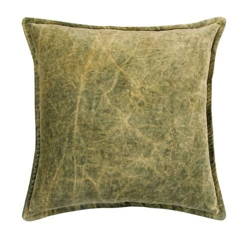 Kyler Cotton Velvet Weathered Throw Pillow Cover 18x18