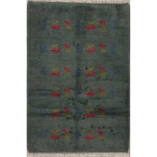"""Gabbeh Tribal Hand Knotted Wool Persian Area Rug - 4'10"""" x 3'4"""""""