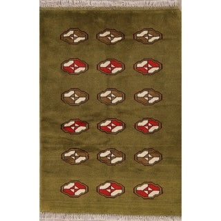 """Gabbeh Geometric Hand Knotted Wool Persian Area Rug - 4'10"""" x 3'4"""""""