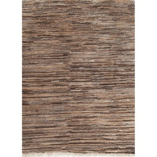 """Gabbeh Contemporary Stripe Hand Knotted Wool Persian Area Rug - 4'8"""" x 3'6"""""""