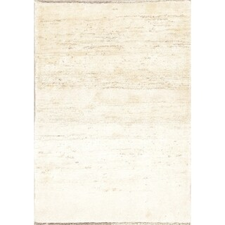 """Gabbeh Contemporary Hand Knotted Wool Persian Area Rug - 4'9"""" x 3'5"""""""