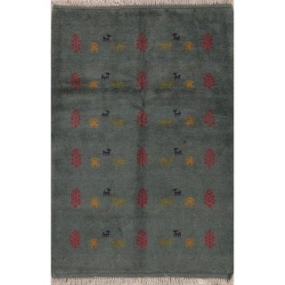 "Gabbeh Tribal Hand Made Wool Persian Area Rug - 5'0"" x 3'6"""