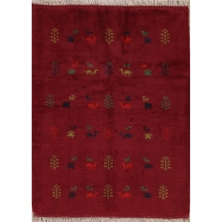 """Gabbeh Tribal Hand Knotted Wool Persian Area Rug - 4'9"""" x 3'7"""""""