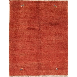 """Gabbeh Contemporary Hand Knotted Wool Persian Area Rug - 4'10"""" x 3'10"""""""