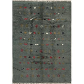 "Gabbeh Tribal Hand Made Wool Persian Area Rug - 7'9"" x 5'3"""