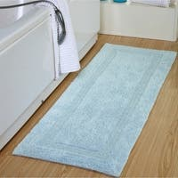 "Oversized Cotton Luxury Soft Reversible 24"" x 60"" Bath Rug - 24 x 60"