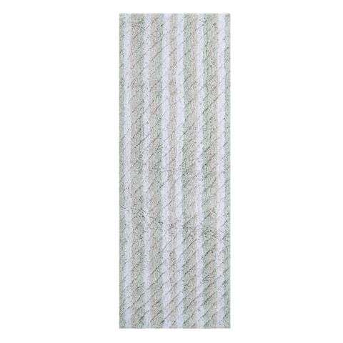 Oversized Stripe Cotton Textured Bath Rug 22 X 60