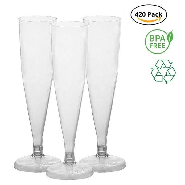 Party Joy [420 Ct] Plastic 6-oz Champagne Flutes (Pack of 420)
