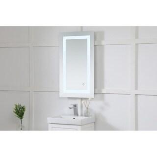 "Avalon 18"" x 30"" Hardwired LED mirror - Silver"