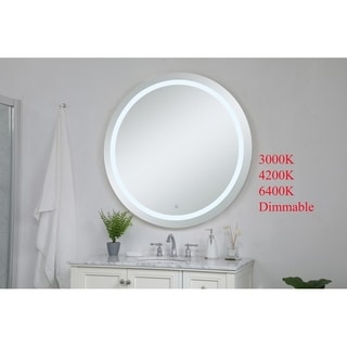 Indigo Home Avalon Silver Hardwired LED mirror