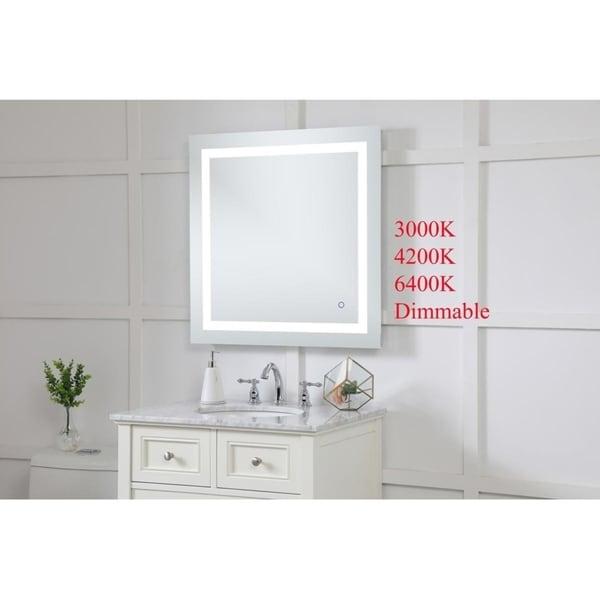"Avalon 30"" x 30"" Hardwired LED mirror - Silver"