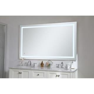 "Avalon 18"" x 36"" Hardwired LED mirror - Silver"