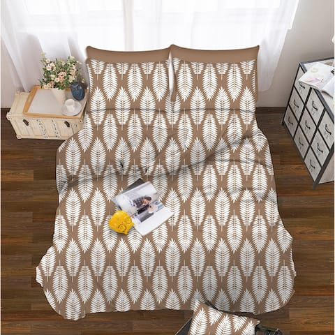Elegant Comfort 6-Piece Feather Pattern Bed Sheet Set