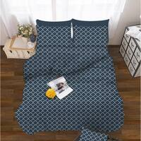 Luxury Soft 6-Piece Trellis Pattern Bed Sheet Set Hypoallergenic and Wrinkle Resistant