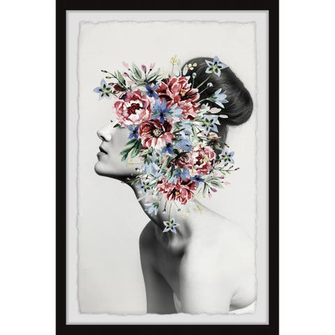 Marmont Hill - Handmade Floral Thoughts Framed Print