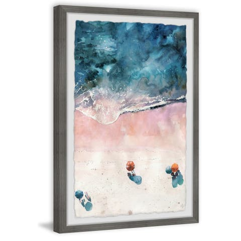 Marmont Hill - Handmade Sunshine at the Beach Framed Print