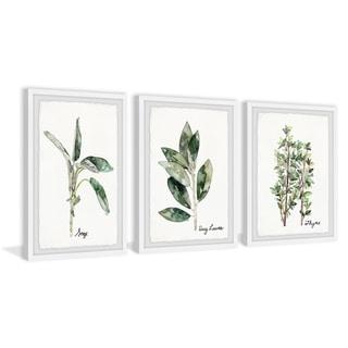 Marmont Hill - Handmade Herb Trio Triptych