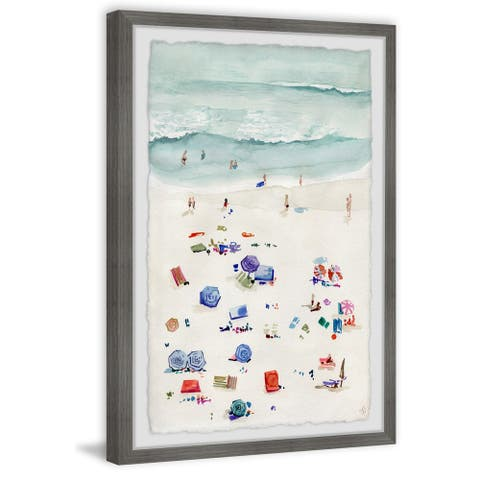 Marmont Hill - Handmade Beach Time Framed Print