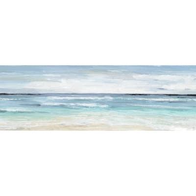 Porch & Den Jacob 'Beach On' Wrapped Canvas Print - Multi-color