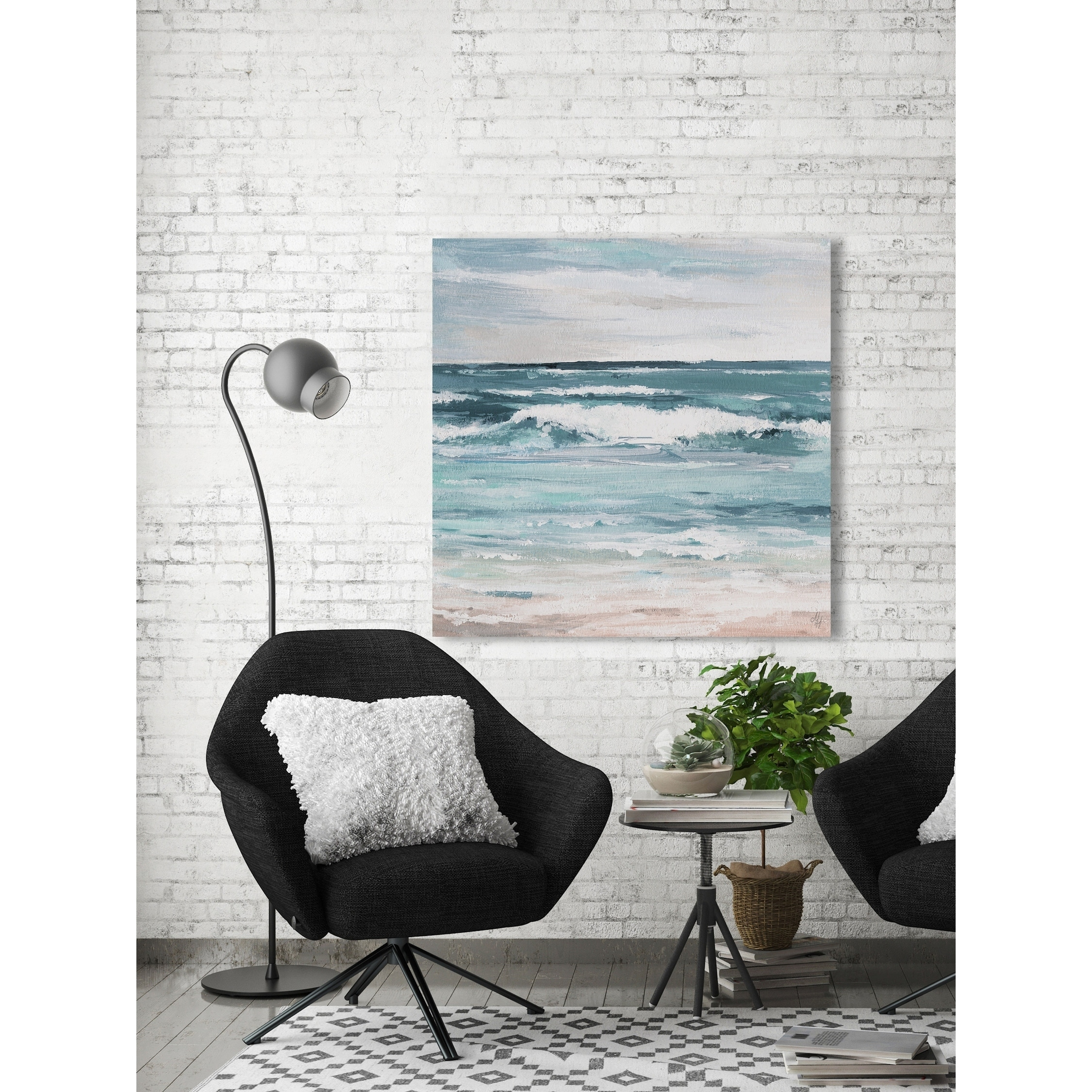 Marmont Hill Handmade Free As The Ocean Print On Wrapped Canvas Overstock 26976184