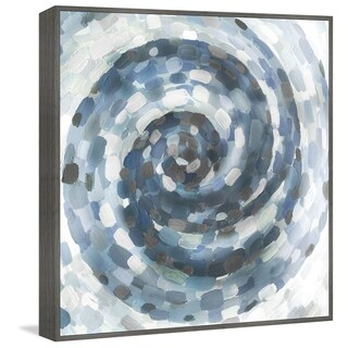Marmont Hill - Handmade Blue Infinity Floater Framed Print on Canvas