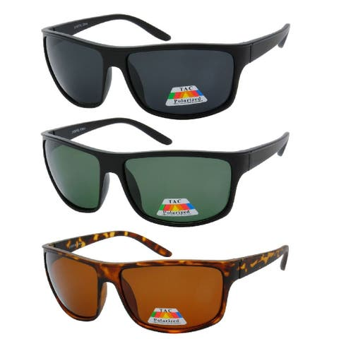"MLC Polarized Retro Racer Collection ""Liberty"" -3 Pack - Brown"