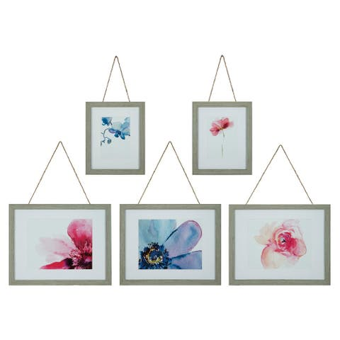 Gallery Perfect 5 Piece Distressed Rope Photo Frames Wall Gallery Kit