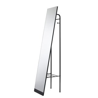 Porch & Den Bryant 58-inch x 12-inch Black Floor Mirror with Shelf - A/N