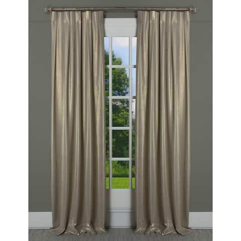 Porch & Den Easystreet Metallic Cotton Box-pleated Single Curtain Panel
