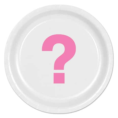 """Beistle 9"""" Baby Shower Party Team Pink Plates - 12 Pack (8/Pkg)"""