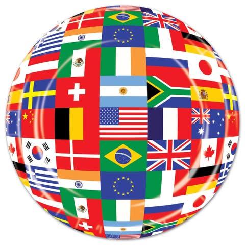 "Beistle 7"" International Flag Party Tableware Plates - 12 Pack (8/Pkg)"