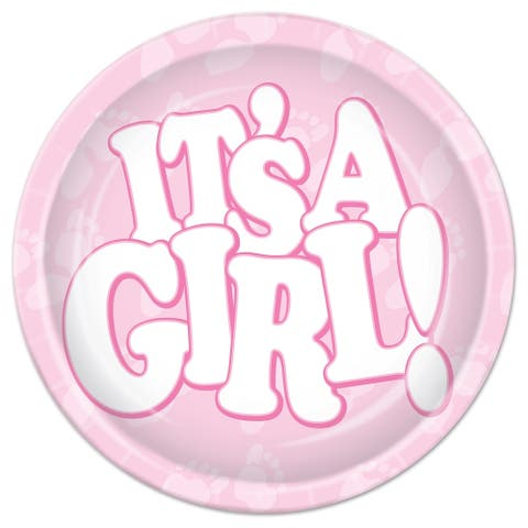"Beistle 7"" Baby Shower Themed Party ""It's a Girl"" Plates - 12 Pack (8/Pkg)"