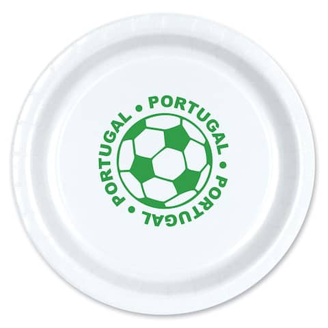 "Beistle 9"" Portugal Soccer Themed Party Tableware Plates - 12 Pack (8/Pkg)"