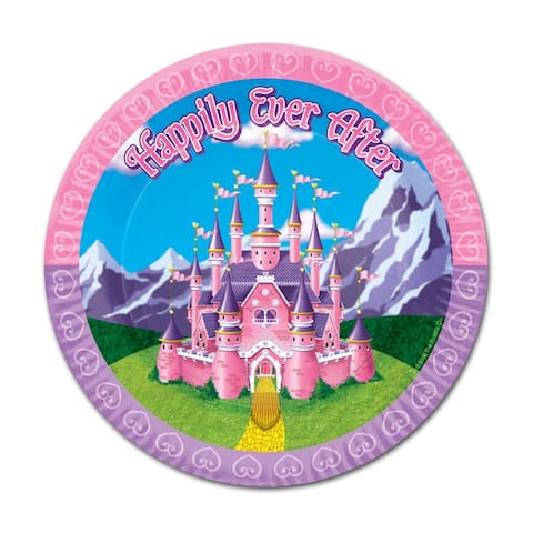 "Beistle 7"" Princess Themed Party Tableware Plates - 12 Pack (8/Pkg)"