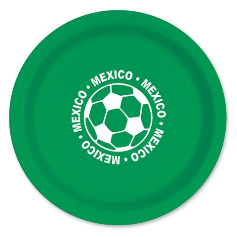 "Beistle 9"" Mexico Soccer Themed Party Tableware Plates - 12 Pack (8/Pkg)"