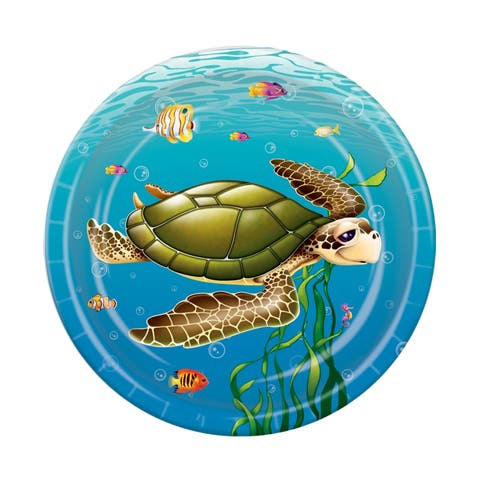 """Beistle 7"""" Under The Sea Party Tableware Plates - 12 Pack (8/Pkg)"""