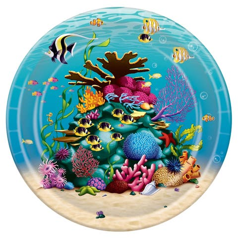 """Beistle 9"""" Under The Sea Party Tableware Plates - 12 Pack (8/Pkg)"""