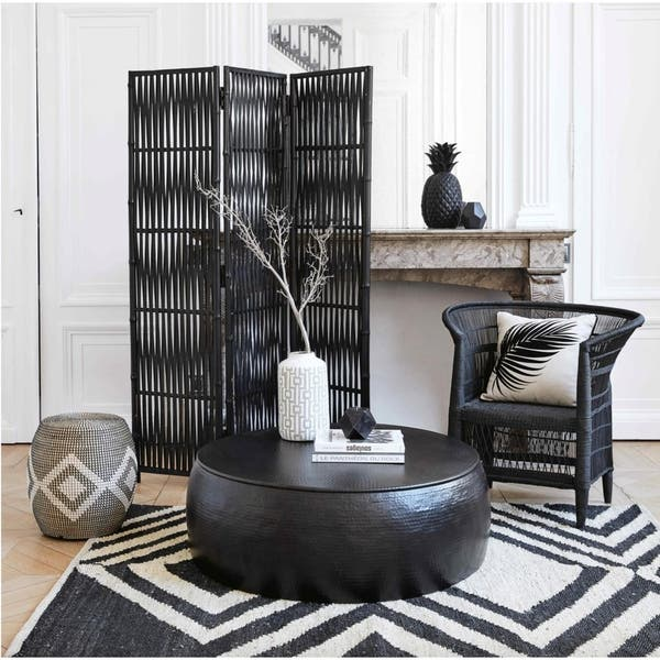 Black Cala Hammered Coffee Table