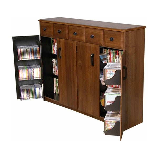 Venture Horizon Multimedia Tv Cabinet With Drawers Walnut N A Free Shipping Today 26980139