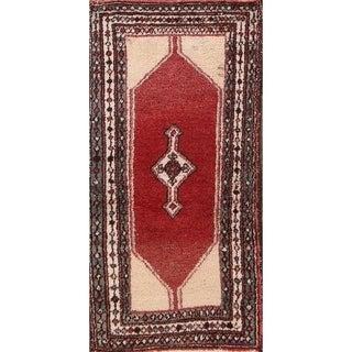 "Vintage Hamedan Geometric Handmade Wool Persian Small Area Rug - 4'4"" x 2'2"""
