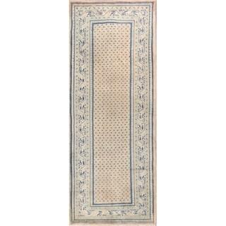 """Vintage Hamedan Geometric Handmade Wool Persian Rug - 10'4"""" x 3'10"""" Runner"""