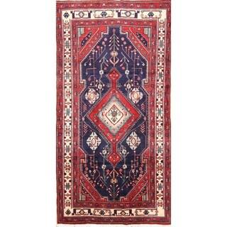 """Vintage Hamedan Floral Handmade Wool Persian Rug - 8'5"""" x 4'2"""" Runner"""