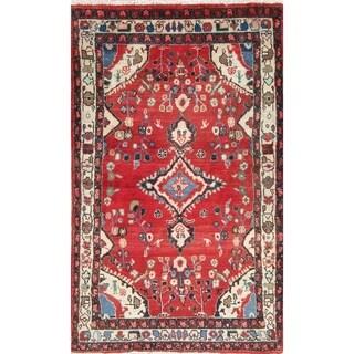 """Vintage Hamedan Floral Handmade Wool Persian Area Rug - 6'10"""" x 4'3"""""""