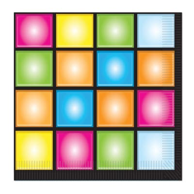 Beistle 2-Ply 70's Theme Disco Luncheon Napkins - 12 Pack (16/Pkg)