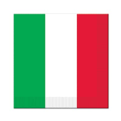Beistle 2-Ply Red, White and Green Fiesta Theme Luncheon Napkins - 12 Pack (16/Pkg)