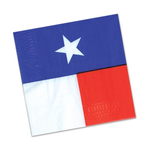Beistle 2-Ply Western Theme Texas Luncheon Napkins - 12 Pack (16/Pkg)