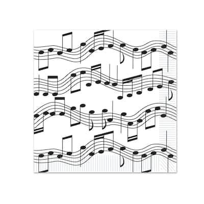 Beistle 2-Ply Musical Notes Beverage Napkins - 12 Pack (16/Pkg)