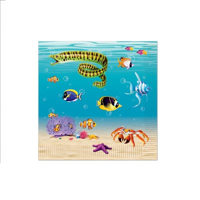 Beistle 2-Ply Under The Sea Luncheon Napkins - 12 Pack (16/Pkg)
