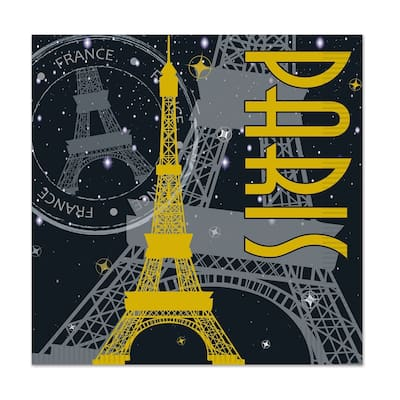 Beistle 2-Ply French Paris Theme Luncheon Napkins - 12 Pack (16/Pkg)