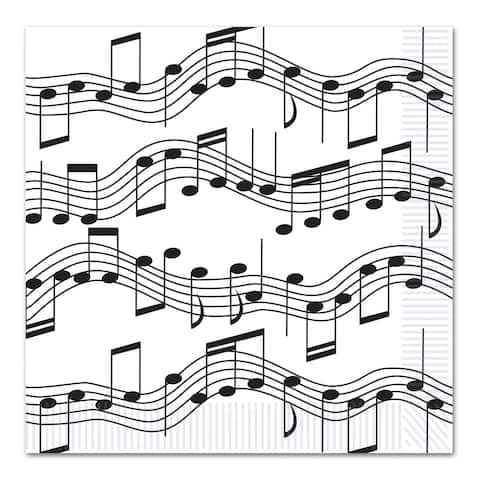 Beistle 2-Ply Musical Notes Luncheon Napkins - 12 Pack (16/Pkg)